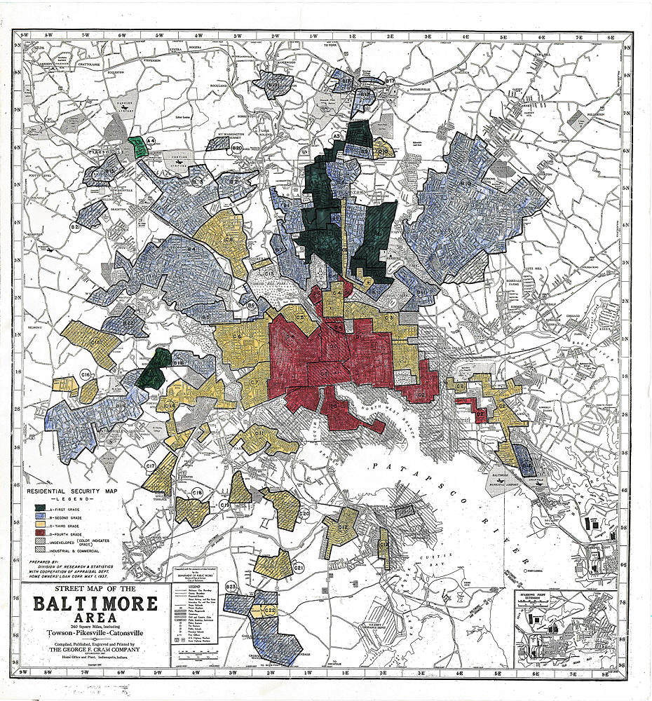 Baltimore Redlining Map